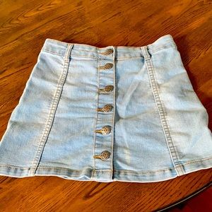 Button down jean skirt for girl size 10.